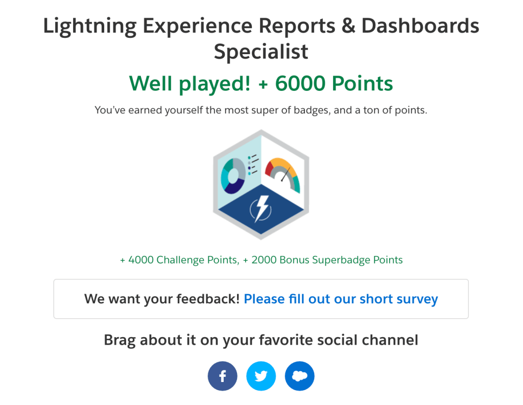 Tips for Passing the Lightning Experience Reports & Dashboards Specialist Superbadge