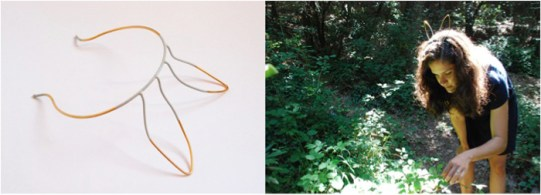 02. The floating knot t01. tiara. 2010. gilded copper wire and paint