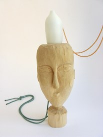 TBP7. Carved basswood, carved PVC, 9kt gold, silk thread