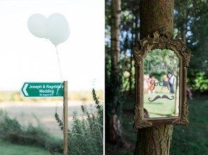 Wedding road signage
