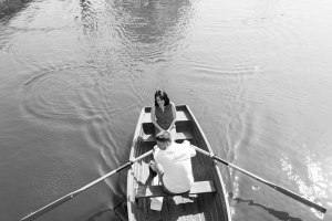Couple on the boats at Flatford