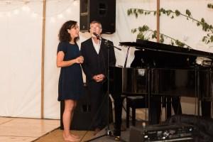 Wedding guest singing in Black Notley