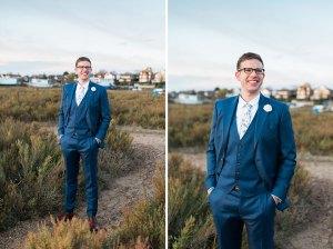 East Mersea wedding photos on the beach