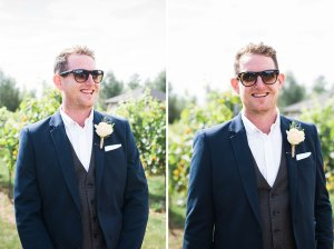 Groom in an Essex vineyard