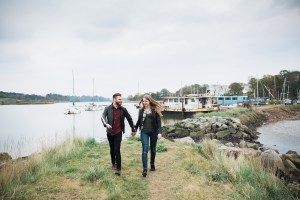 Woodbridge engagement shoot by the water