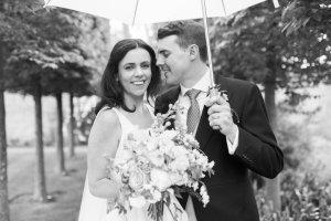 braxted park wedding in the rain
