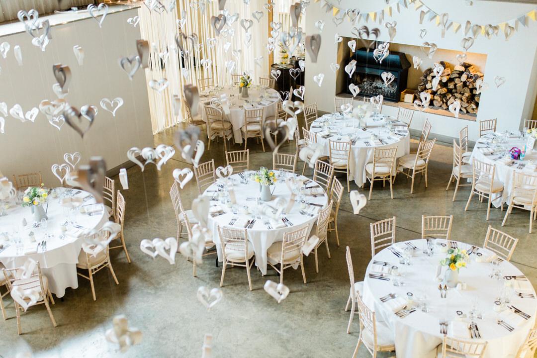 Houchins wedding venue reception room