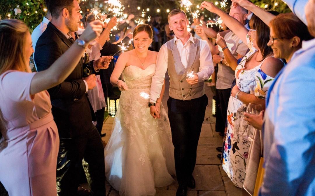 12 tips for wedding sparkler photos