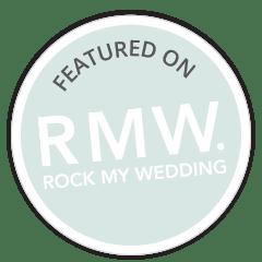 As seen in perfect wedding magazine logo