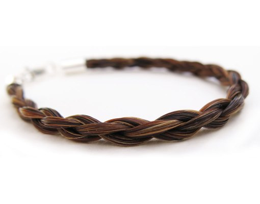 horse hair bracelet in chestnut - Gemosi