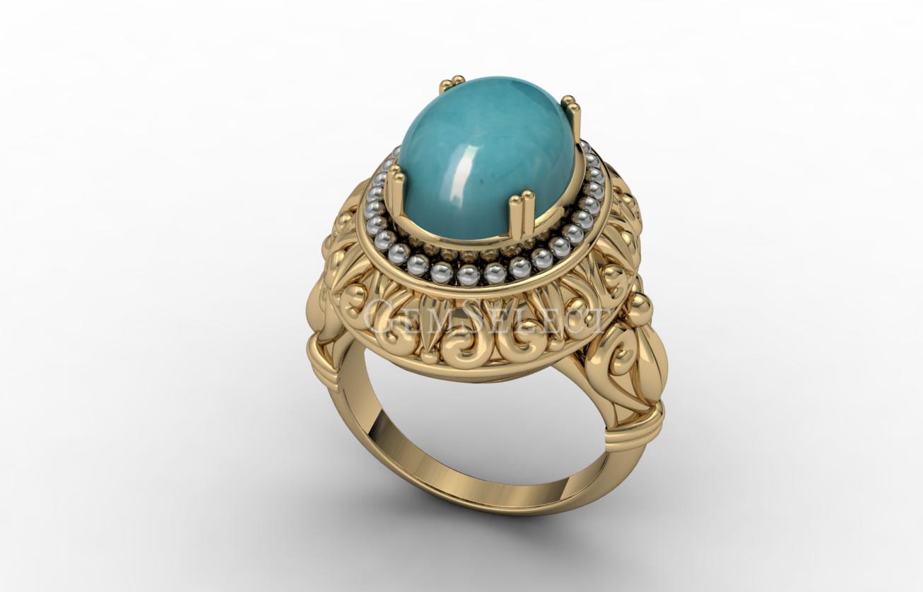 Amazonite Rings Natural Amazonite Gemstone Jewelry