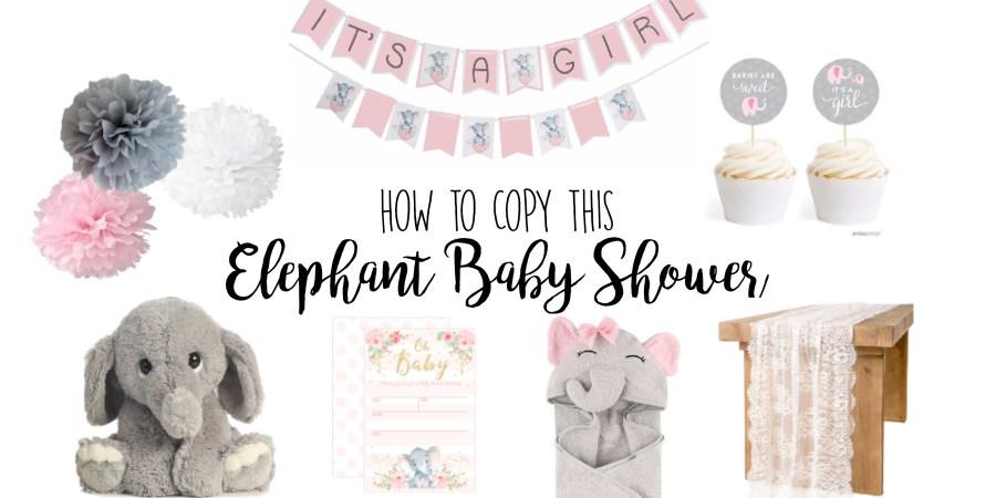 Elephant Baby Shower Girl Gem Snatch
