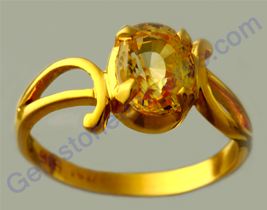 Best Golden Yellow Sapphire Lustrous Natural Fancy