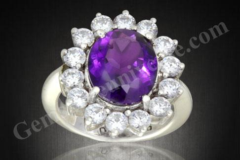 Natural Amethyst Gemstone Therapy Diamond Gem