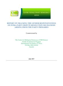 Thumbnail Of Party Primaries Dispute Resolution Mechanisms 2017 Report