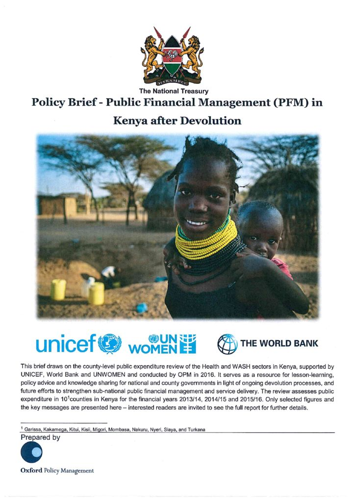 thumbnail of Policy Brief-PFM in Kenya after Devolution