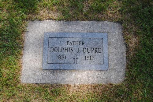 Dolphis Dupre gravestone