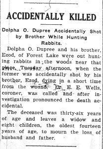 Dolphis Dupre death notice