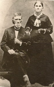 Abel Dunham (1819-1899) and his wife Rachel Harding (1816-1886)