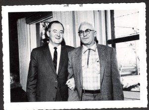 "Francis ""Fal"" Pattison with Vice President Hubert Humphrey"