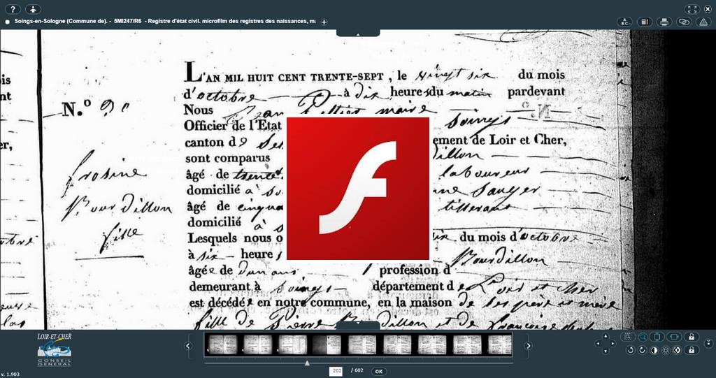 La mort de Flash : Bonne nouvelle pour les généalogistes | GenealogiePratique.fr