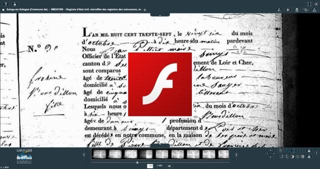 La mort de Flash : Bonne nouvelle pour les généalogistes   GenealogiePratique.fr
