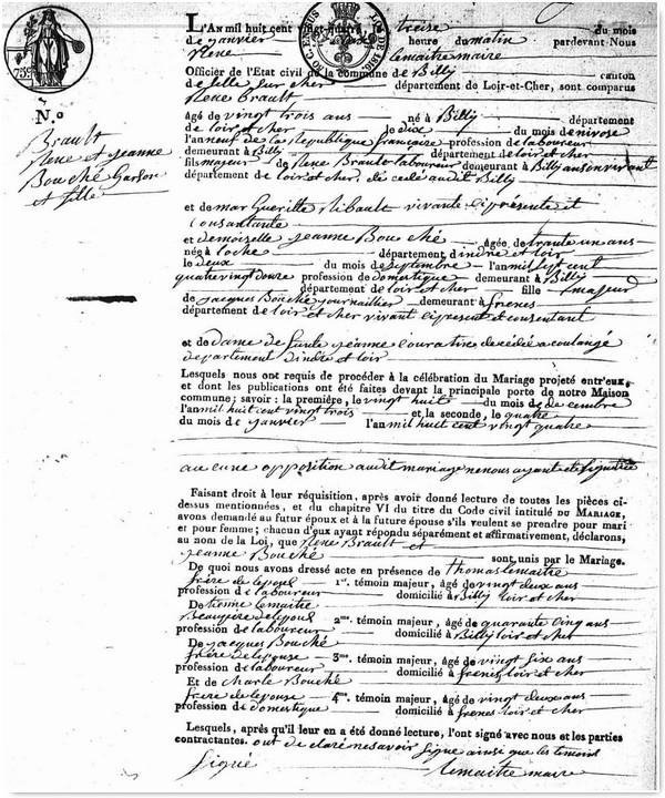 Genealogistes Utilisez Les Actes_Acte de mariage