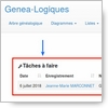 Actualité genealogie Juillet 2018 - Activer la fonction cachée « Todo » dans le logiciel de généalogie webtrees