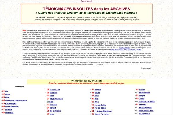 SItes Anecdotes - Geneadom
