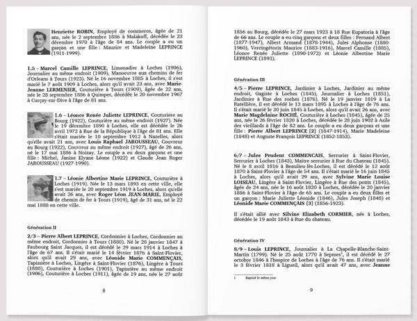 Geneanet - Livre imprimable - Biographies
