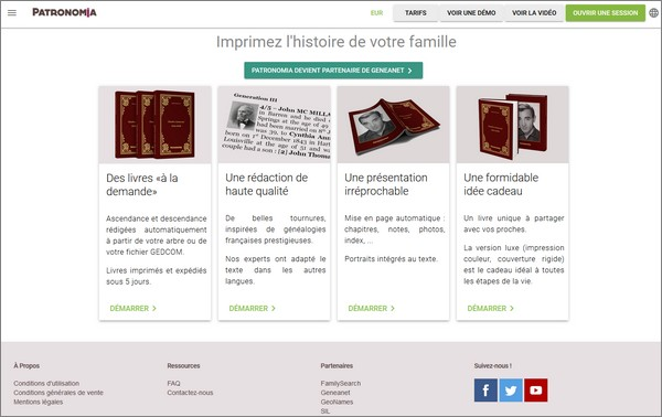 Geneanet - Livre imprimable - Patronomia