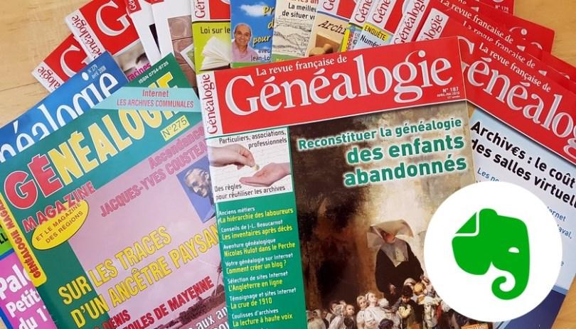 Numérisez et organisez les articles de vos magazines de généalogie