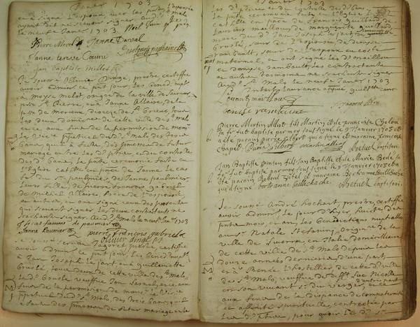 Pourquoi consulter les sites des archives départementales - Registres paroissiaux