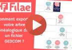 Filae _ Comment exporter votre arbre généalogique dans un fichier GEDCOM