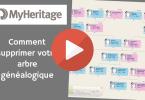 MyHeritage _ Comment supprimer votre arbre généalogique