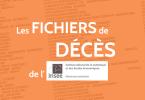 Les fichiers de décès INSEE