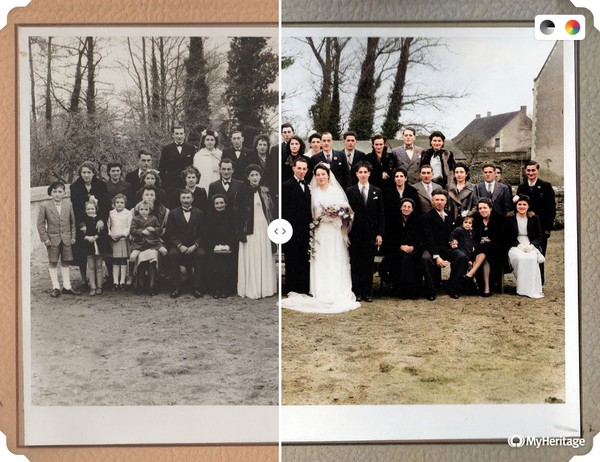 MyHeritage In Color - Mariage Bodin Fleury