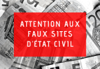 Attention aux faux sites d'état civil