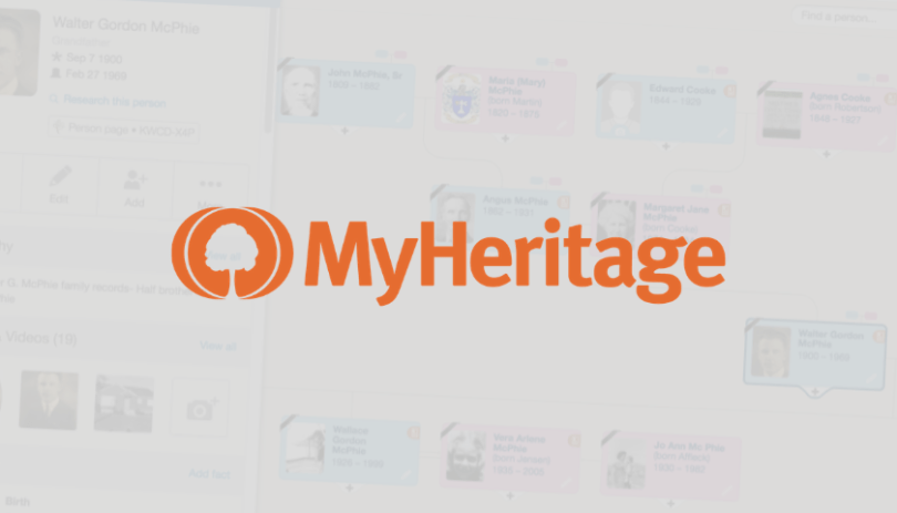 MyHeritage : Une vue Ascendance dans Family Tree Builder