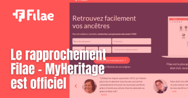 Le rapprochement Filae - MyHeritage est officiel
