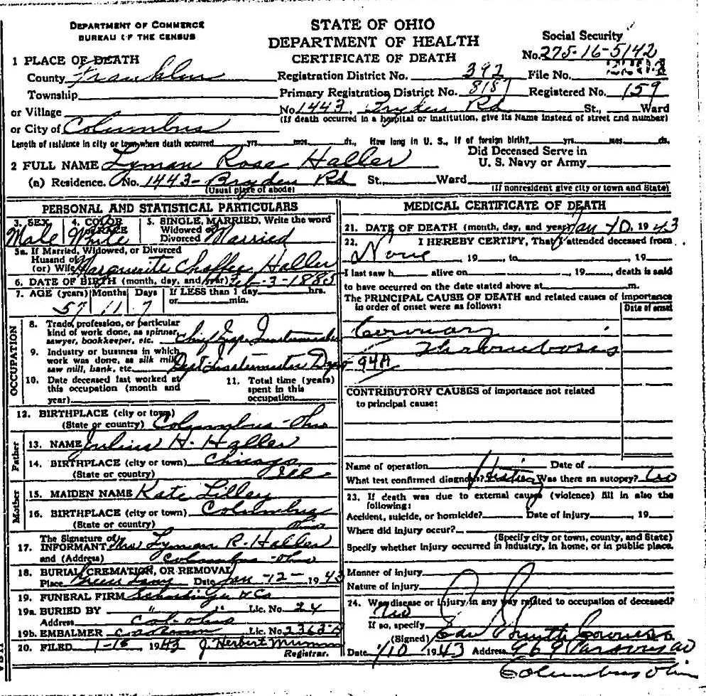 Hamilton County Ohio Birth Certificates