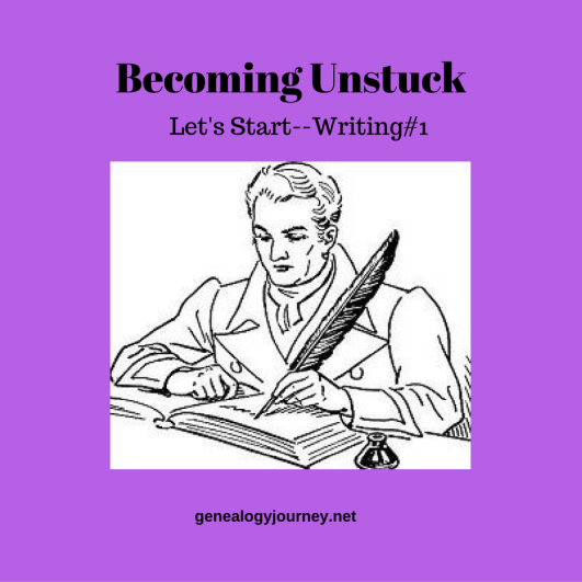 becoming-unstuck-writing, writing family history
