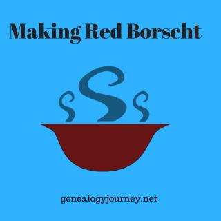 Making Red Borscht
