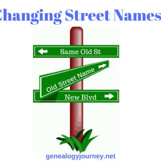 Changing Street Names