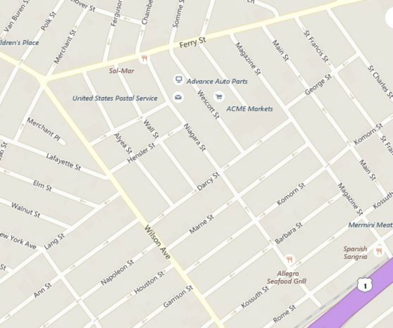 Current map of Newark with new street names