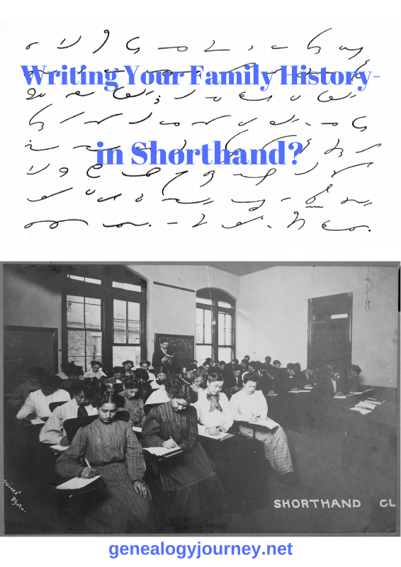 write your family history in shorthand
