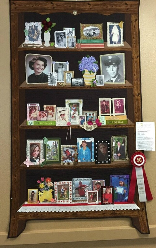 5 generation bookcase scrapbook memory quilt