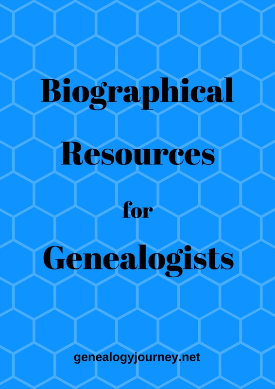 biographical resources genealogists