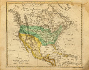 United States map 1821