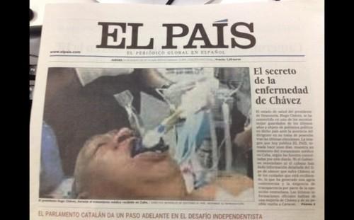 El País: foto falsa de Hugo Chávez entubado costaba 30 mil euros